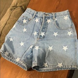 Jean shorts. With stars. Vintage!
